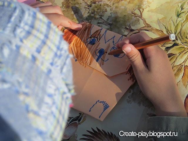 оригами собачка