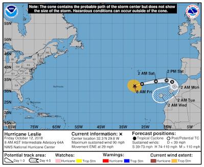 Hurricane Leslie Kanaren 01