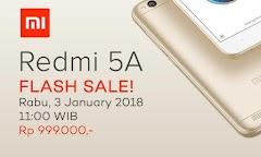 Flash Sale Xiaomi Redmi 5A Lazada Ludess Kurang Dari 20 menit saja!!