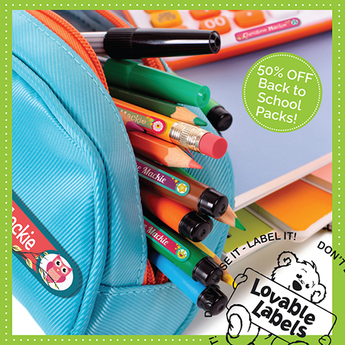 Lovable Labels is Turning 13! ~ #LovableLabels #Giveaway back to school 50% off