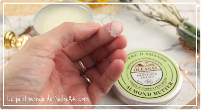 Beurre d'amande bio  pour peaux sèches Made in France