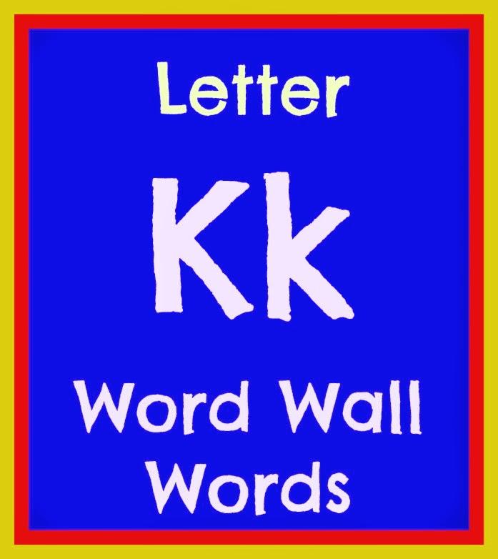 Practicing Preschool: Word Wall Words Part III: K-P
