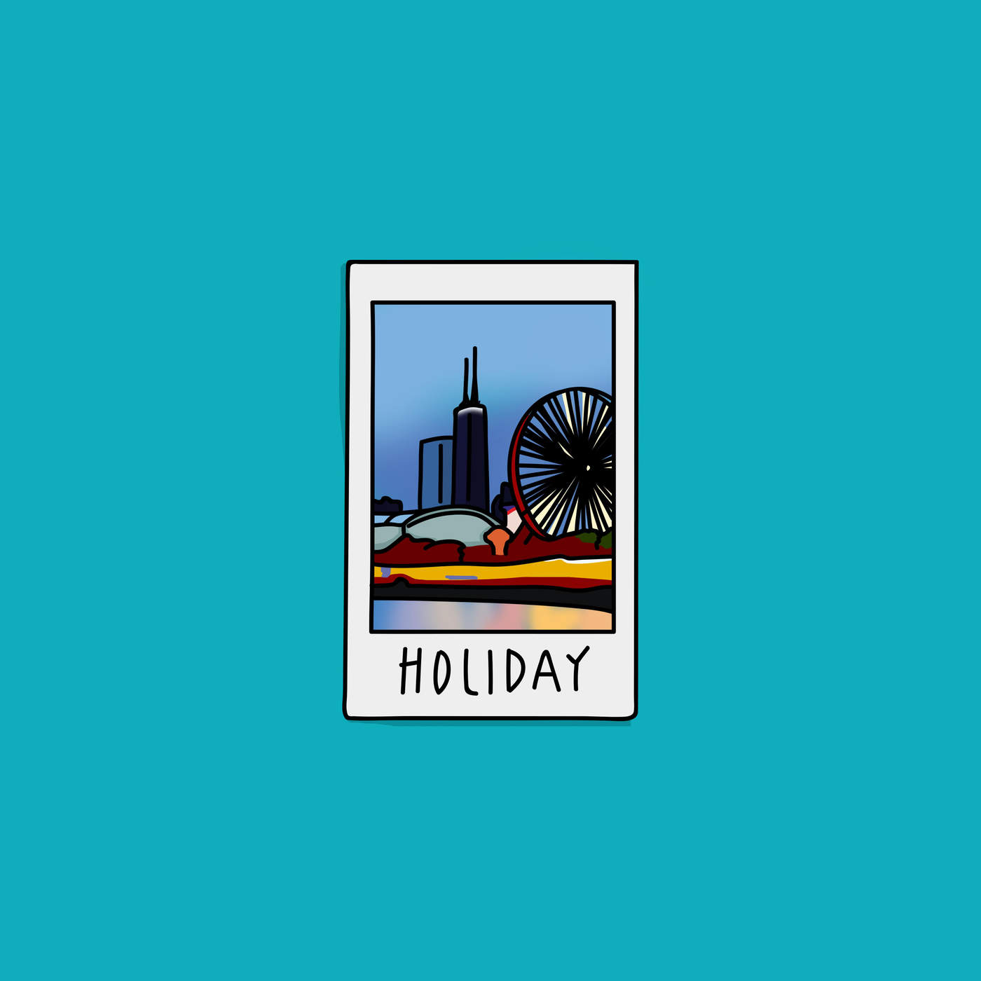 James The Mormon - Holiday (feat. Taylor Bennett) - Single Cover