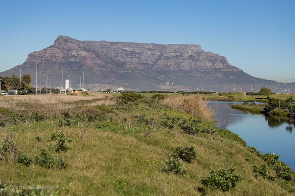 Copyright Vernon Chalmers: Table Mountain over Table Bay Nature Reserve