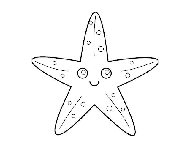 Gambar Mewarnai Bintang - 9