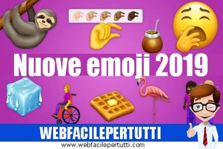 """In arrivo 230 nuove emoji dal 2019 - Scopri le nuove """"faccine"""""""