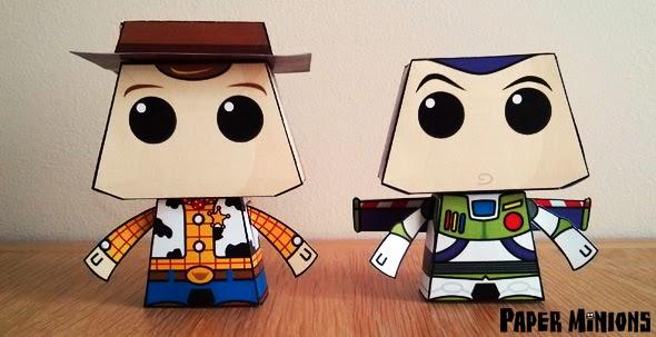 Toy Story: Buzz y Woody para Imprimir Gratis.