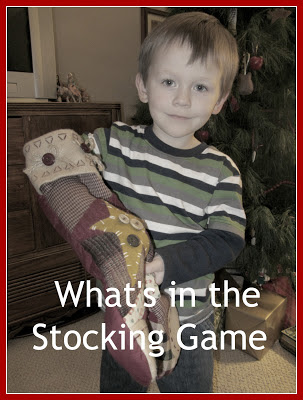 What's in the Stocking Game-The Unlikely Homeschool
