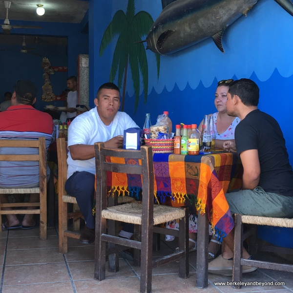 colorful dining on the town square in Bucerias, Mexico