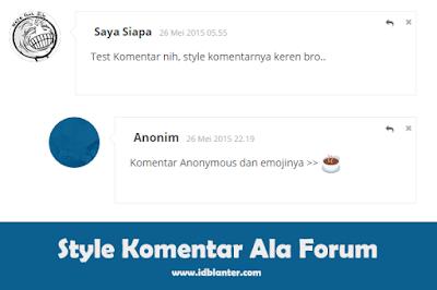Style Komentar Forum dengan Emoji
