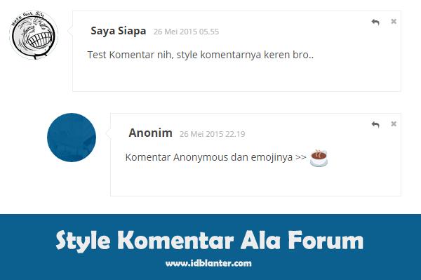 Membuat Style Komentar Ala Forum dengan Emoji di Blog