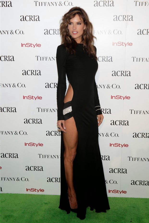 Alessandra Ambrosio With bold dress