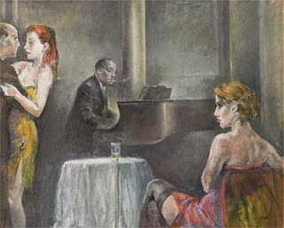 One of the paintings Wada passed off as his own was one of  Sughi's many works depicting women in bars