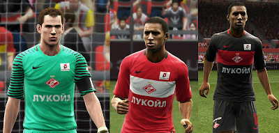 PES 2013 Spartak Moscow 2016/2017 kits by vladroman