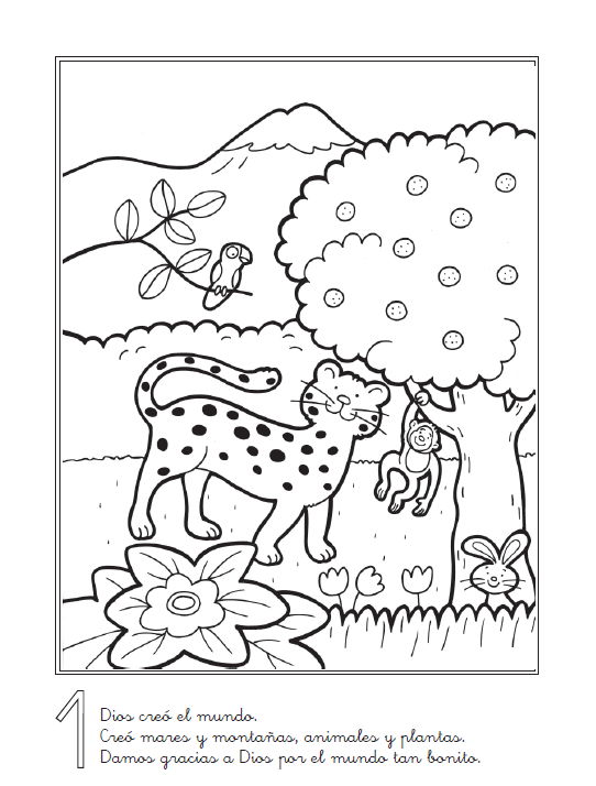 Dibujos Sobre La Creación Para Niños Imagui