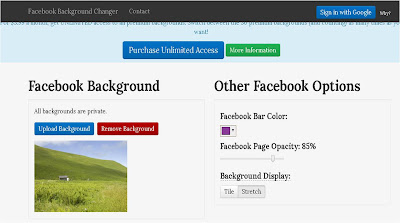 Cara Menambahkan Facebook Background Changer