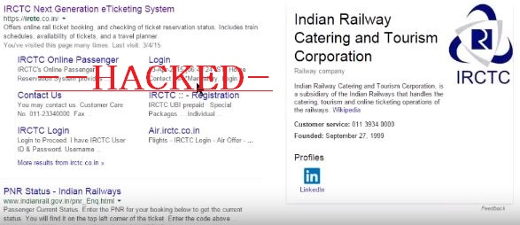 That's It! IRCTC is hacked