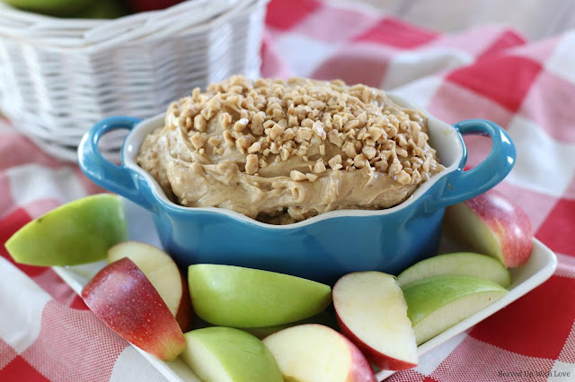 Easy Toffee Apple Dip recipe from Served Up With Love