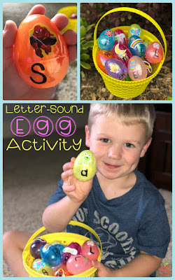 Fun learning activity for Easter using plastic eggs- perfect for Kindergarten and preschool kids