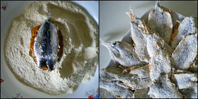 Sardinas o boquerones en Charmoula: Rebozado en harina