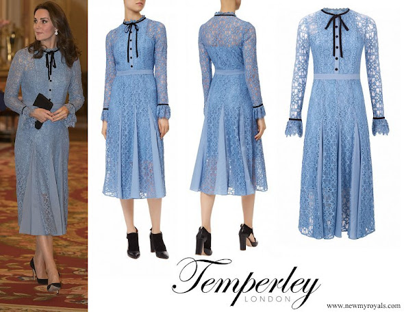 Pregnant Kate Middleton wore Temperley London Eclipse lace collar dress