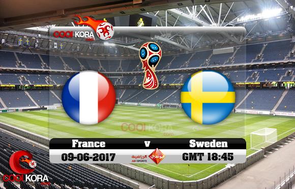 مشاهدة مباراة السويد وفرنسا اليوم 9-6-2017 تصفيات كأس العالم