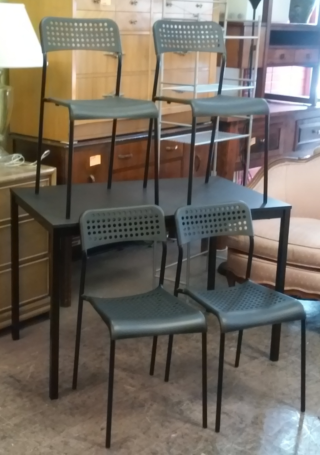 Uhuru furniture collectibles sold ikea adde dining set - Ikea dining table with 4 chairs ...