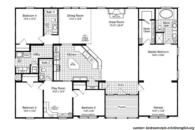 33 gambar denah rumah 5 kamar sederhana yang bisa anda