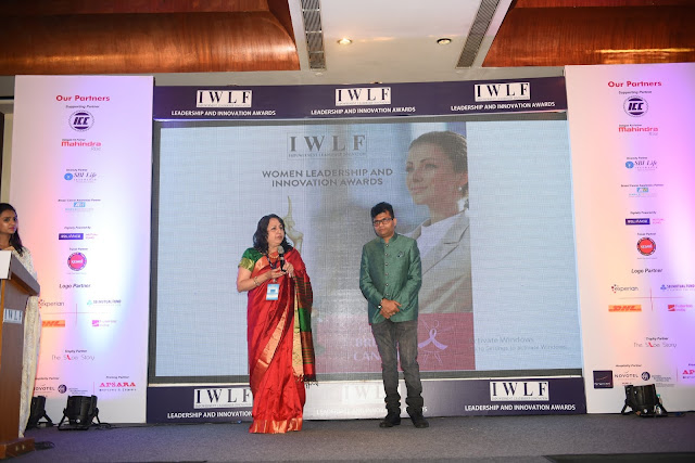Sharmila Banerjee (Chairperson IWLF ) and Industrialist & philanthropist Dr. Aneel Murarka 4th Women Leadership & Innovation Awards 2017