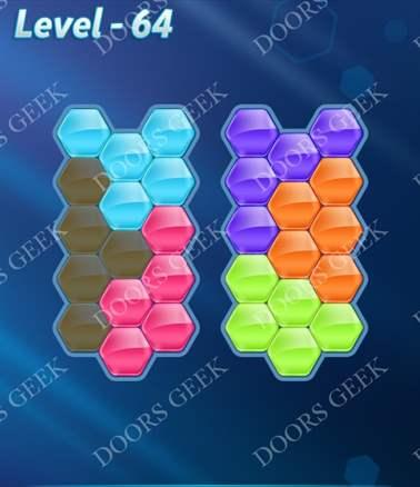Block! Hexa Puzzle [6 Mania] Level 64 Solution, Cheats, Walkthrough for android, iphone, ipad, ipod