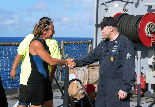 U.S. Navy rescues two women stranded at sea for five months