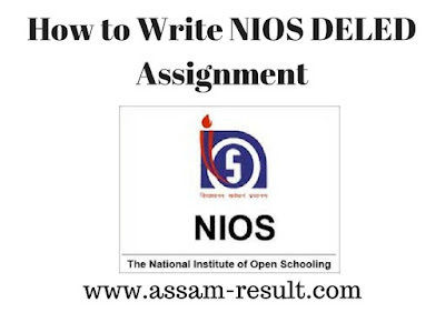 How to Write NIOS DELED Assignment