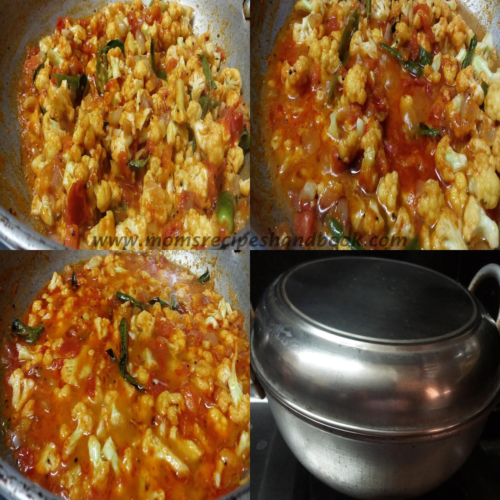 Cauliflower Tomato Curry Andhra Style ~ Mom's Recipes Handbook