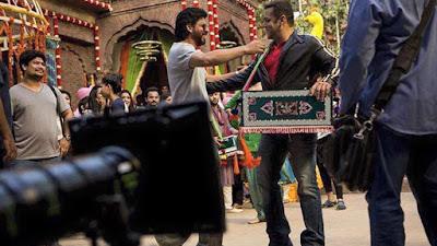 शाहरुख खान, सलामन से उनकी फिल्म 'सुल्तान' के सेट पर मिलने पहुंचे