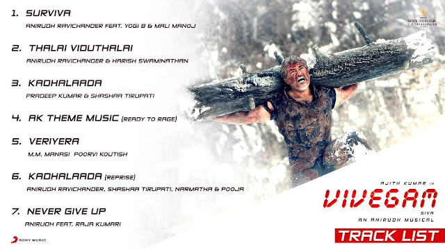 Vivegam Movie Tracklist