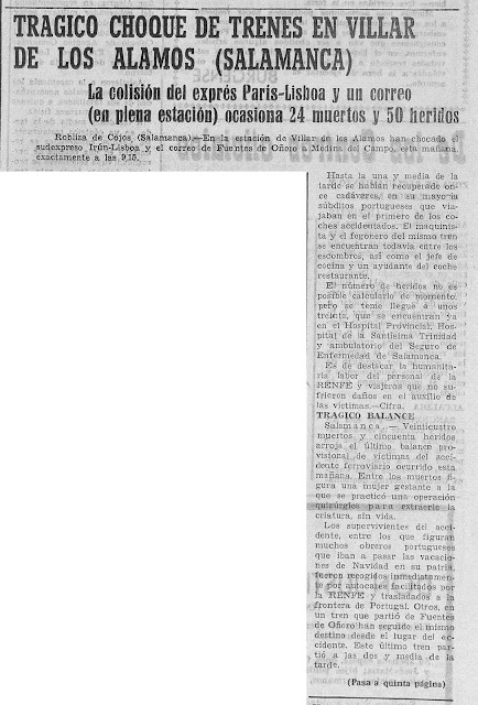 Accidente ferroviario de Villar de los Álamos de 1965.