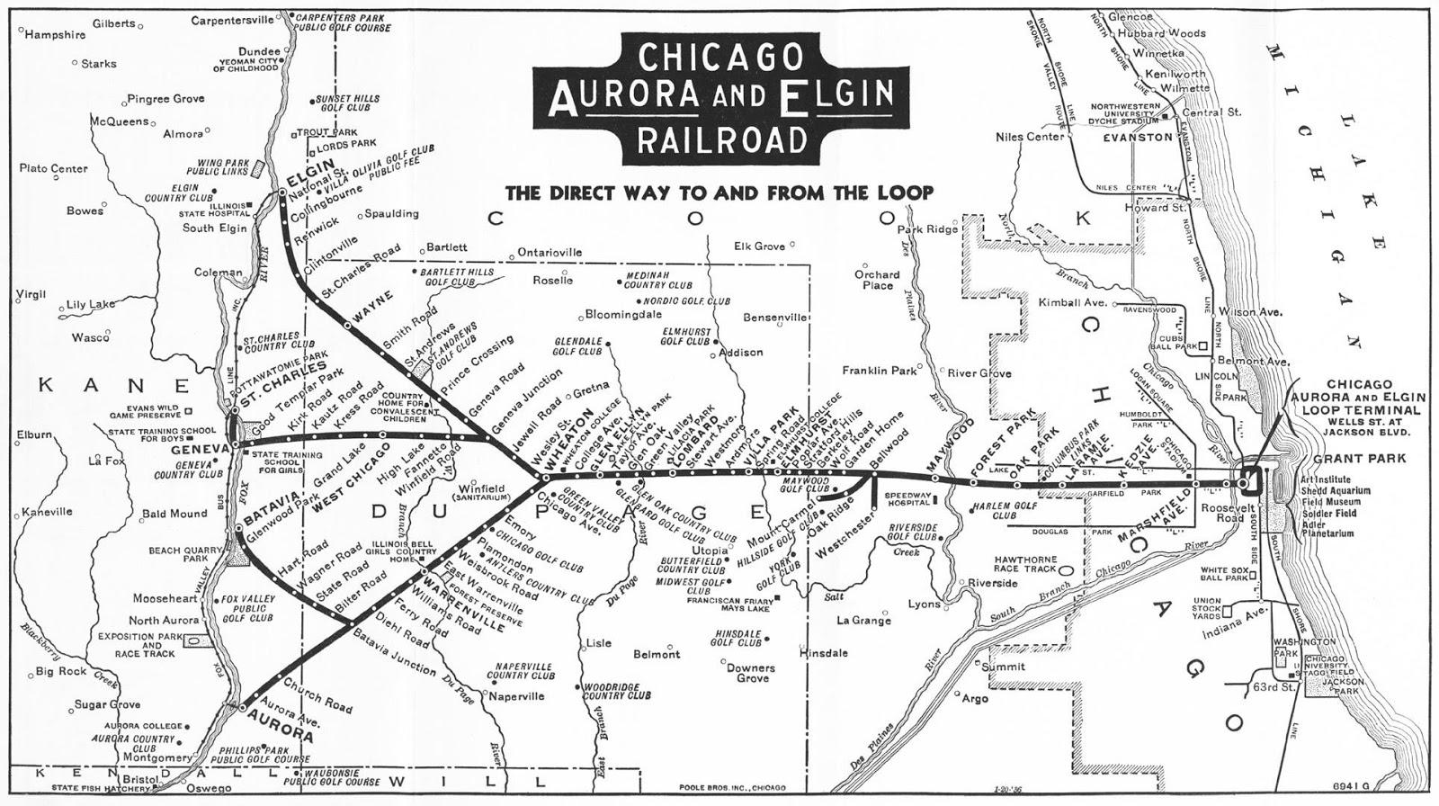 Industrial History: CA&E: Chicago, Aurora & Elgin Railroad