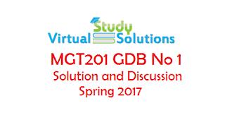 MGT201 GDB no 01 Solution Spring 2017