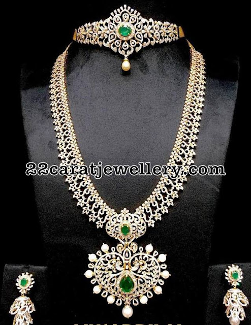 Diamond Set Long Chain by Musaddilal