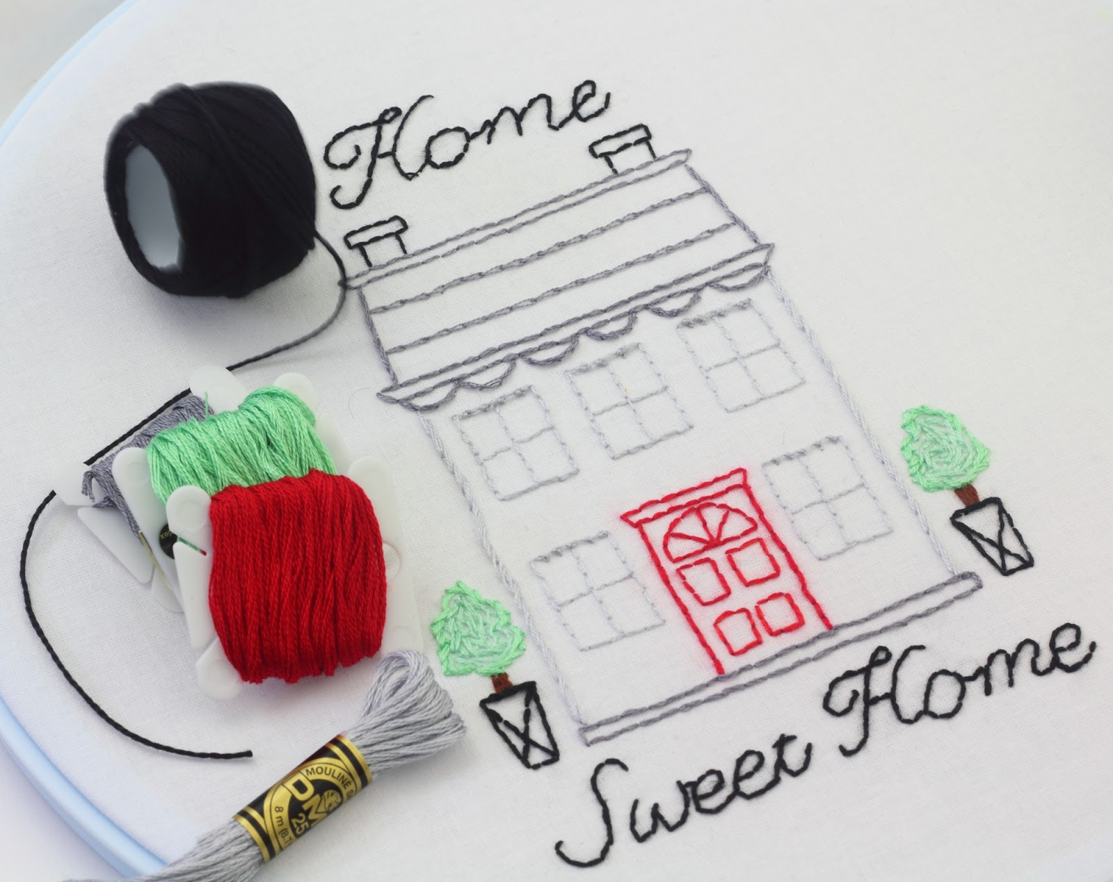 big B: Home Sweet Home Embroidery Stitching