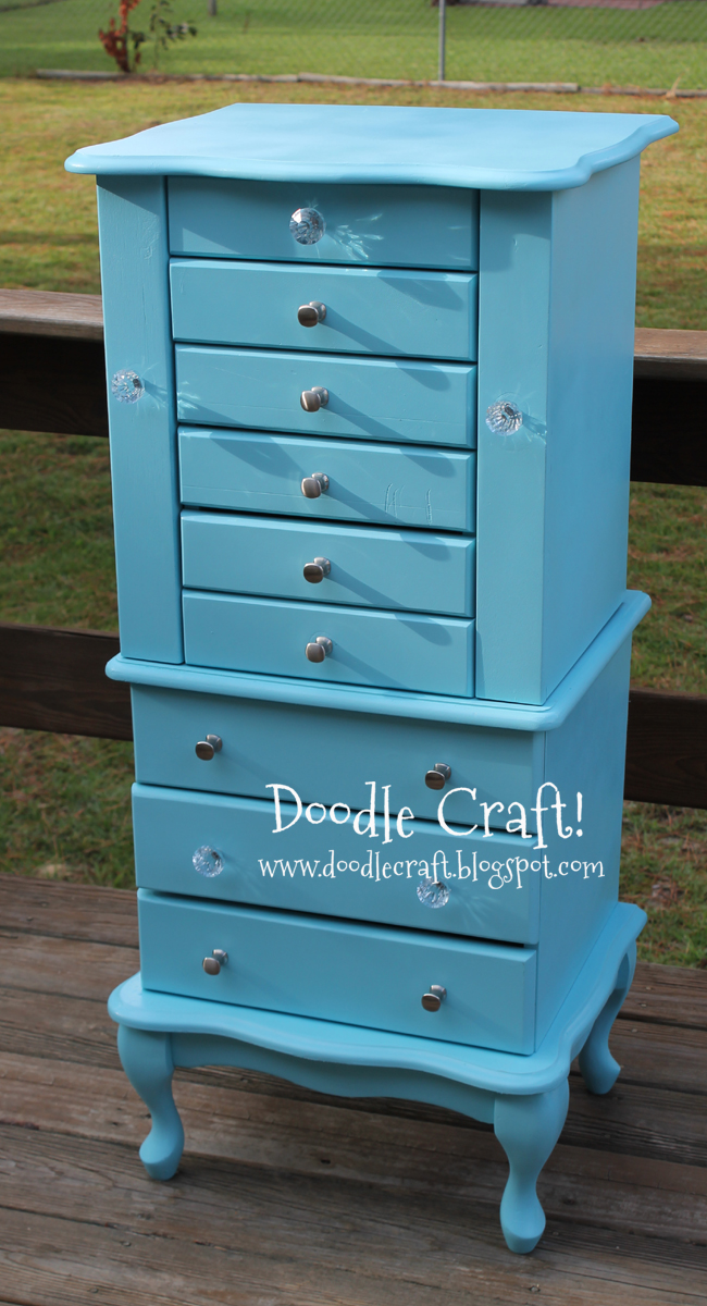 Doodlecraft Vintage Jewelry Armoire Redo Diy