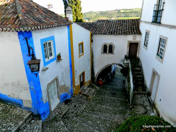 Rua medieval de Óbidos, Portugal