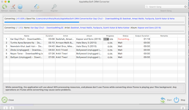 AppleMacSoft DRM Converter Image