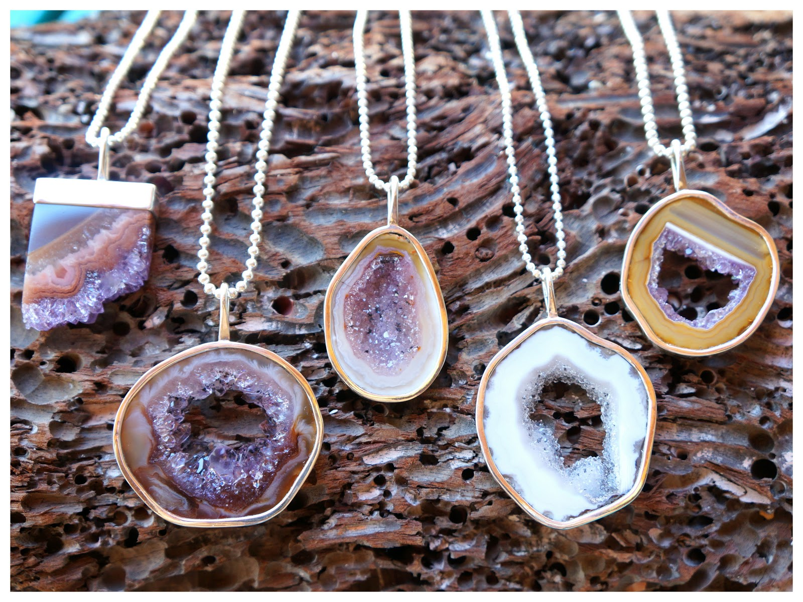 Ek Art Jewelry Tamarindo Costa Rica Geodes Sliced And
