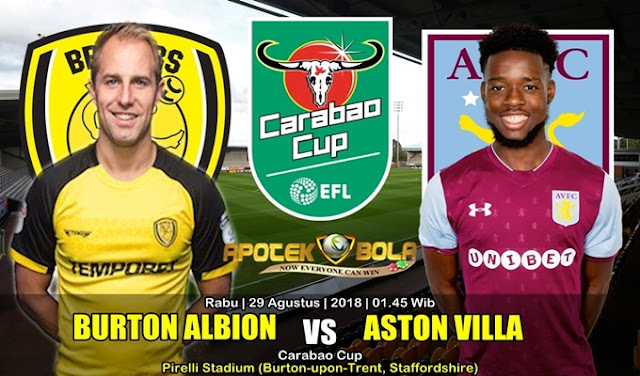 Prediksi Burton Albion Vs Aston Villa 29 Agustus 2018