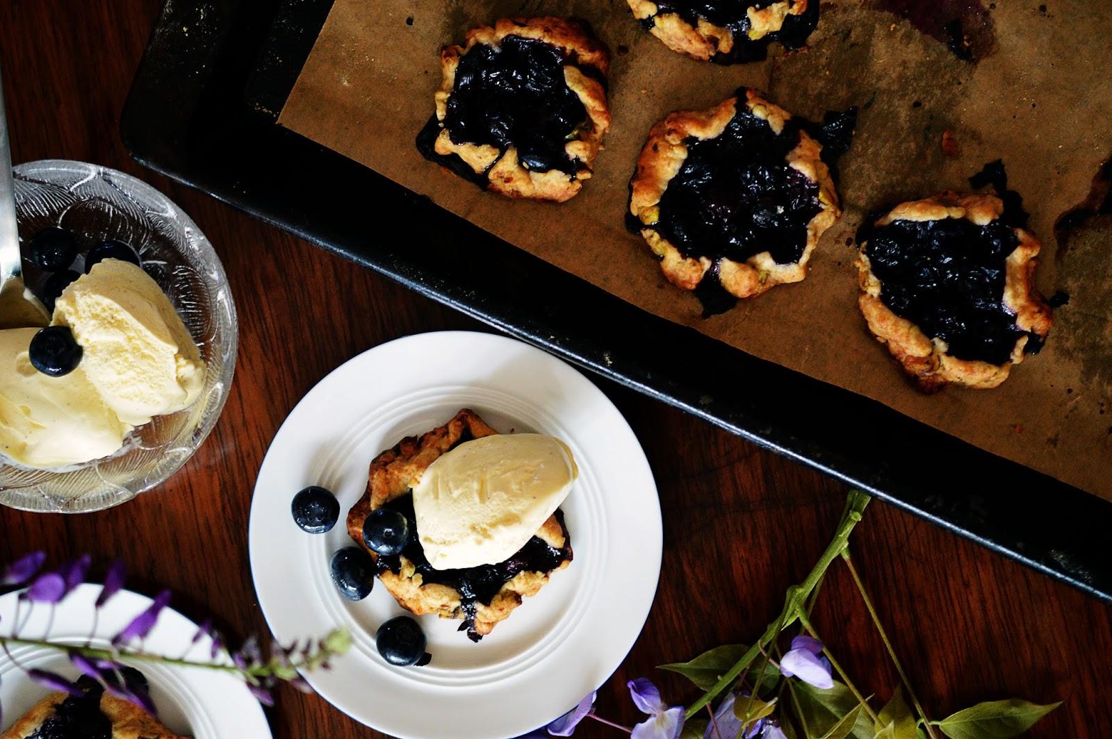 Blueberry Pistachio Galettes | Motte's Blog