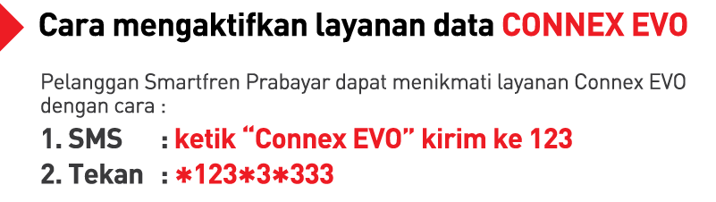 Cara mengaktifkan paket data Smartfren Connex Evo