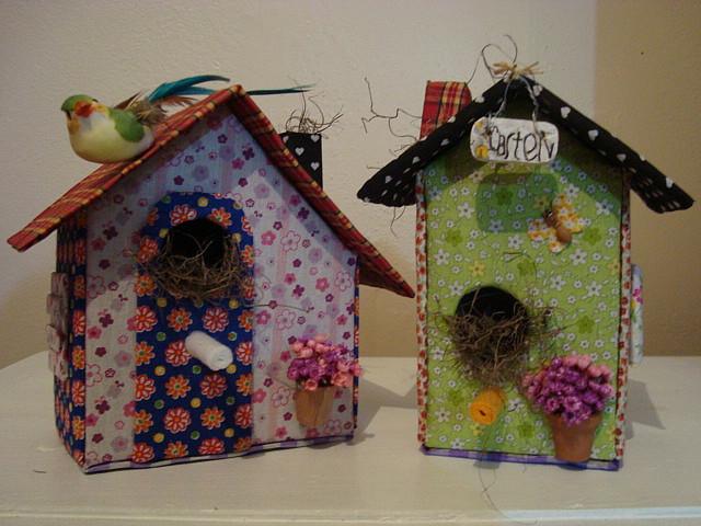 Croche e muito mais casa de passarinho em patchwork - Casas de patchwork ...