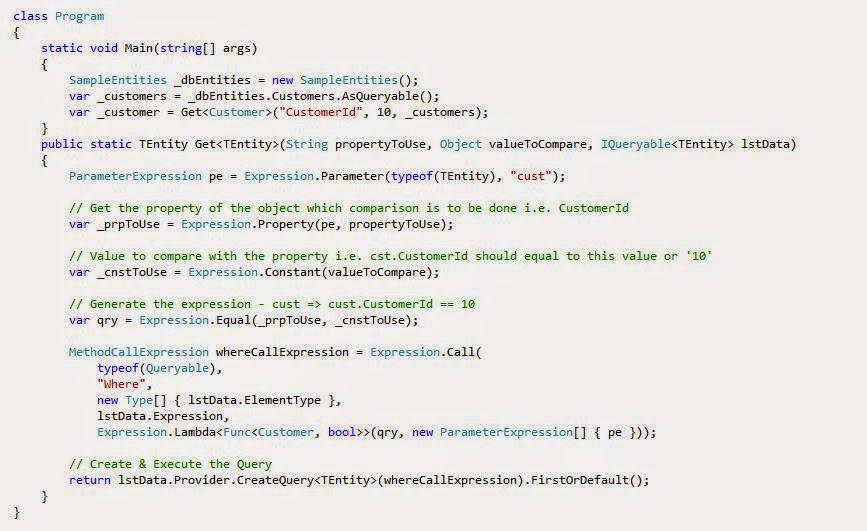 netfreak: Dynamic query using LINQ