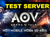 Download Game AOV Test Server 2018 (Arena Of Valor) Server Luar Terlengkap Terbaru Bahasa Indonesia - Hero Murah bisa Semua hero Terbuka Advance Server